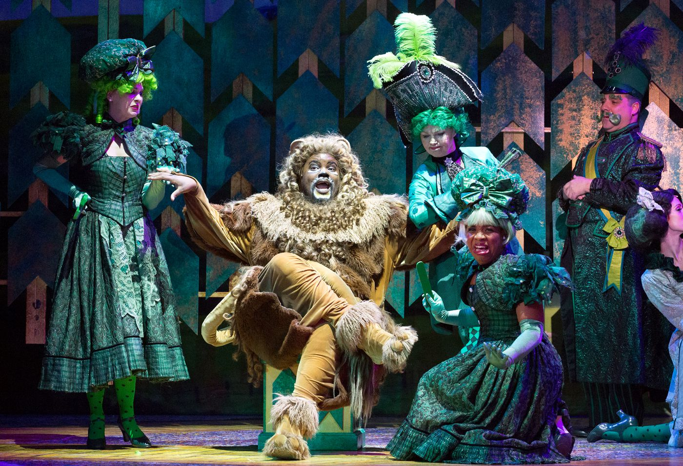 "Nichalas L. Parker, seen here as the Cowardly Lion in Walnut Street Theatre's ""Wizard of Oz,"" started out as a secretly cowardly understudy."