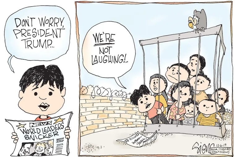 Laughter is not everyone's response to the President right now.