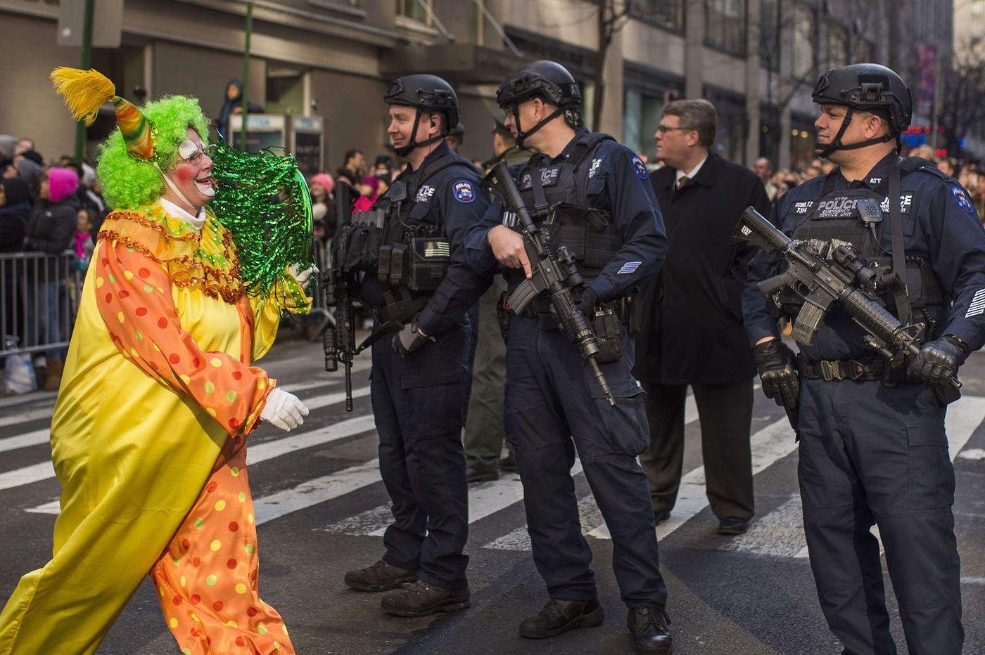 Macy's parade draws record police presence