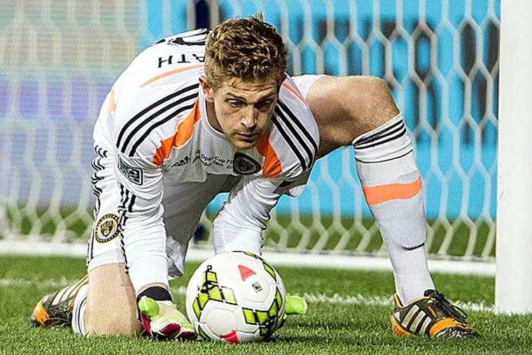 Union goalkeeper Zac MacMath. (John Geliebter/USA Today Sports)