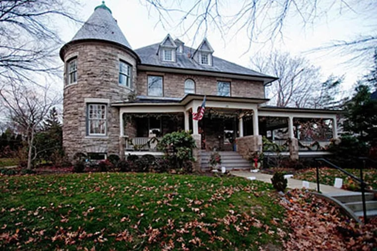"""The home of Robert and Jean Messina, known as  """"The Castle"""" in Mt. Holly.  ( David M Warren / Staff Photographer )"""