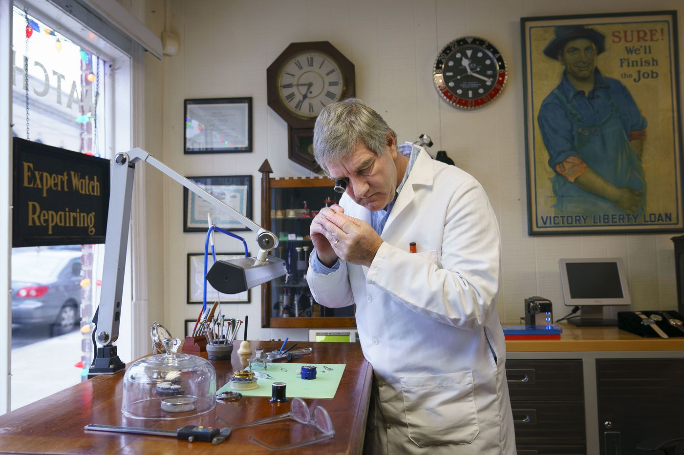 Repairing watches is a 'dying' art, but this Wayne watchmaker is turning away customers