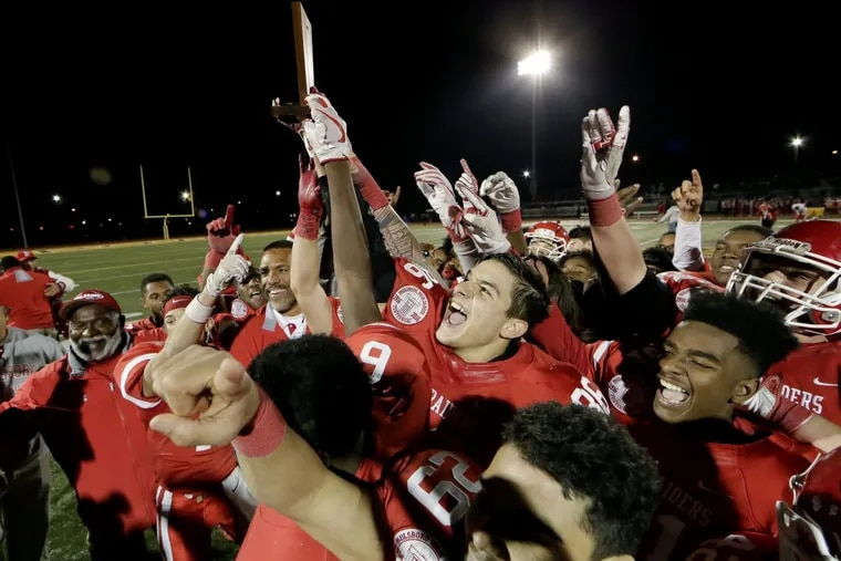 Paulsboro celebrates after beating  Penns Grove to capture the South Jersey Group 1 championship