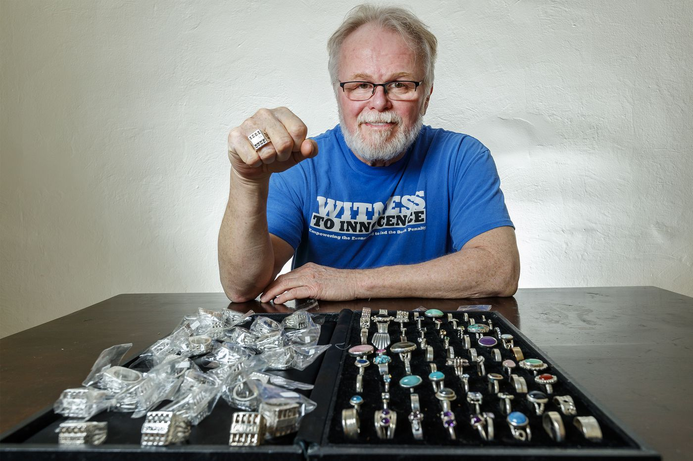 This former death row inmate now makes jewelry out of his home in the Philly suburbs for other exonerees