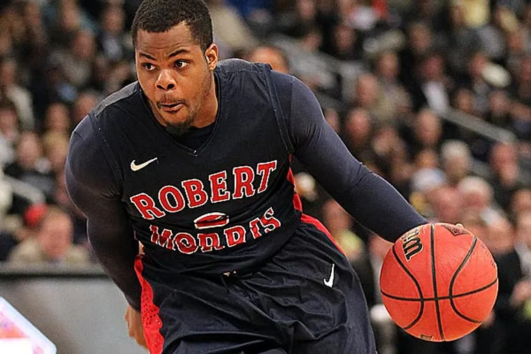 North Philly's Velton Jones is leaving Robert Morris as one of the most-decorated players in program history. (Stew Milne/AP)