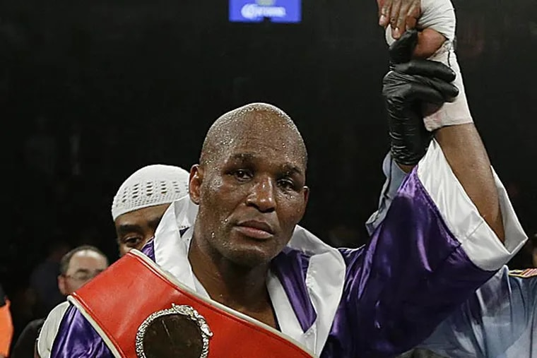 Bernard Hopkins eclipsed his own record for being the oldest man to win a recognized boxing world championship. (Frank Franklin II/AP)