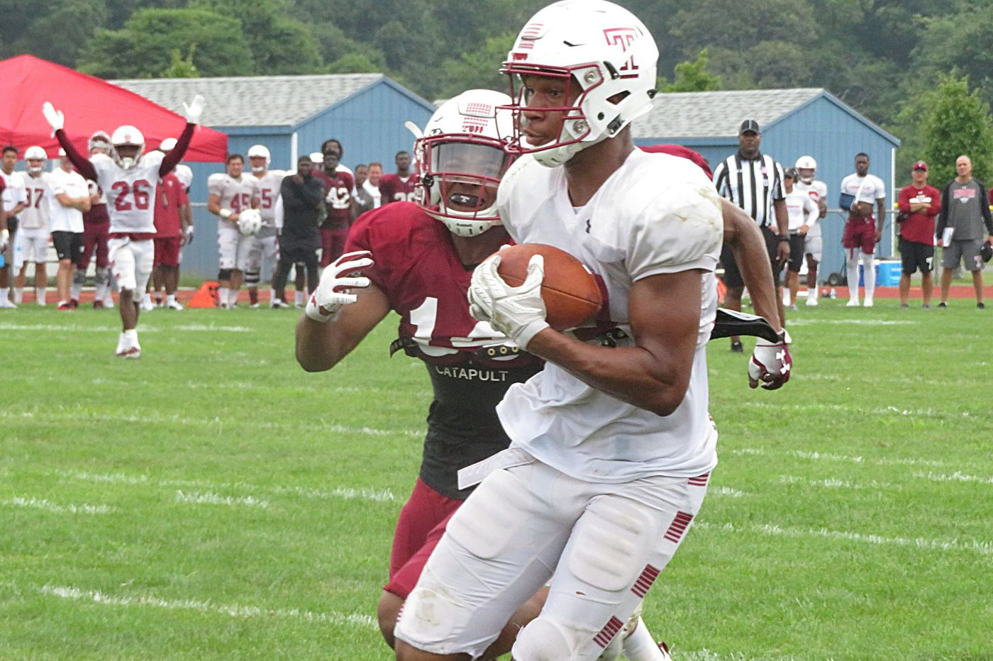 Receiver Branden Mack continues to step up performance at Temple training camp