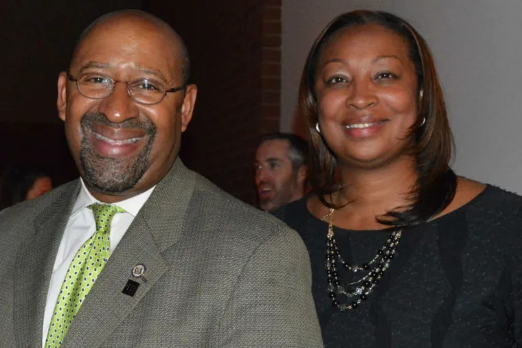 Former Mayor Michael Nutter and former City Representative Desiree Peterkin Bell.