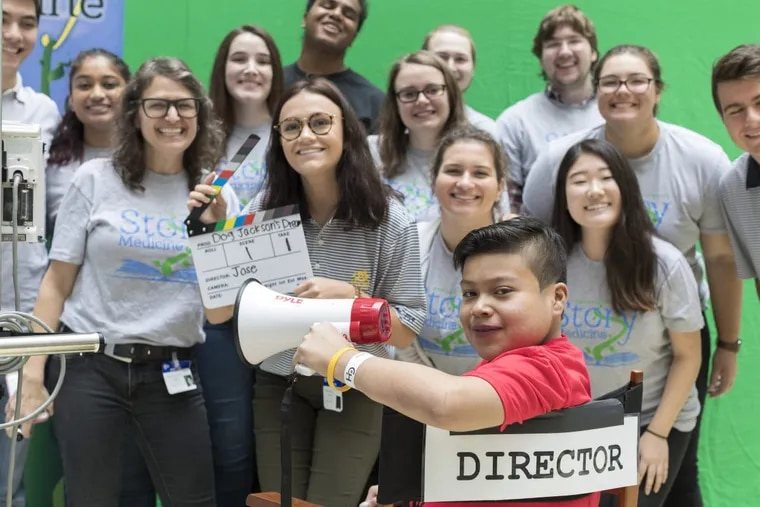 Jose Tomas Crisostomo Flores, 12, worked with Drexel University students in the Story Medicine class to translate his life story into a two-minute animated film.