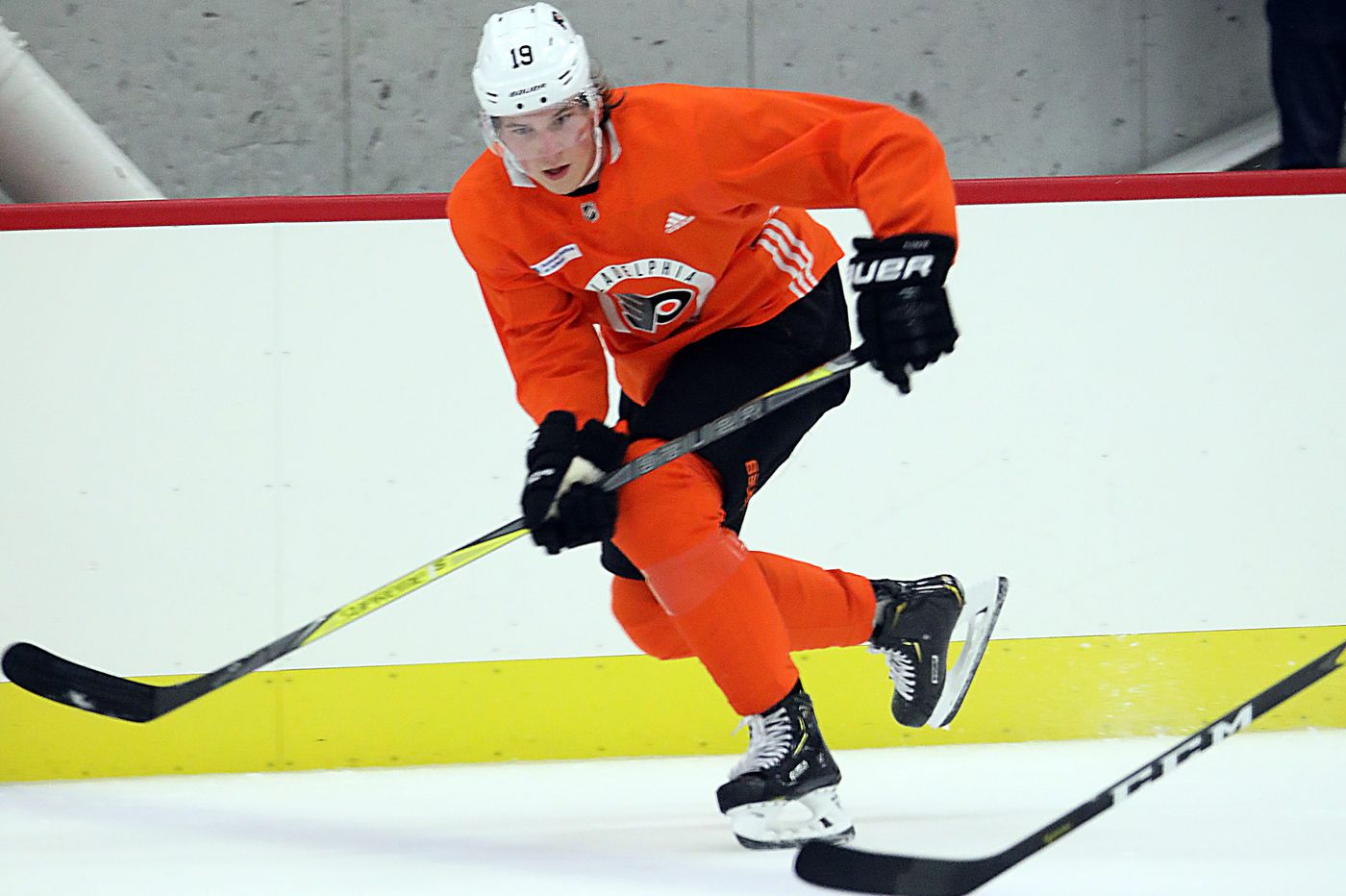 'Stronger, faster' Nolan Patrick on display at Flyers training camp