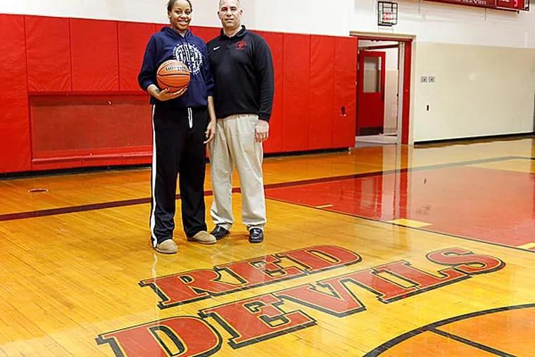 Lauren Moses and coach Tony Corrado have led the Rancocas Valley basketball team to No. 1 in preseason rankings. (Ryan S. Greenberg/Staff Photographer)