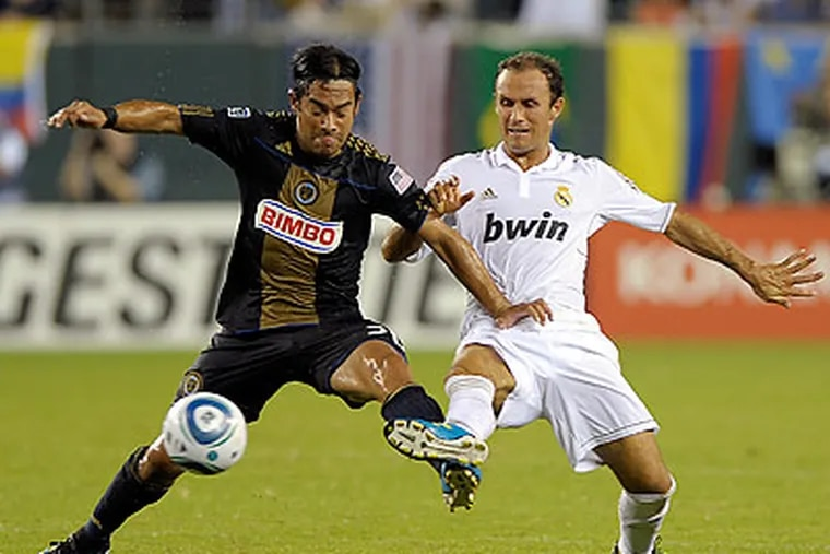 The Union gave up two early goals to Real Madrid, but got their offense in sync after that. (Michael Perez/AP)