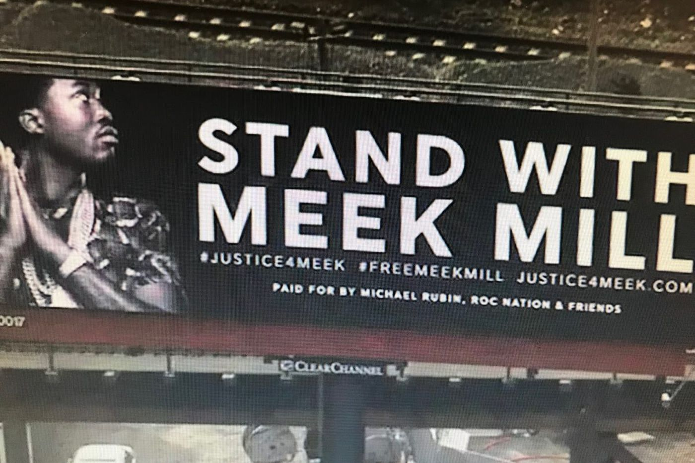 Who is behind those 'Stand With Meek Mill' billboards?