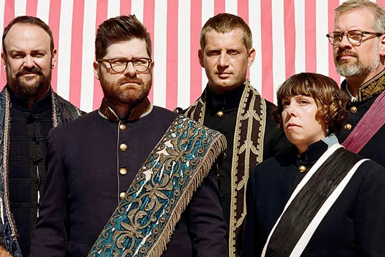 The Decemberists drew on nearly all of their albums Tuesday at the Academy of Music. (Photo credit:  Credit: Autumn De Wilde)