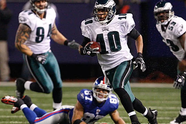 DeSean Jackson leads the Eagles with 947 receiving yards and 409 punt return yards on the season. (Ron Cortes / Staff Photographer)