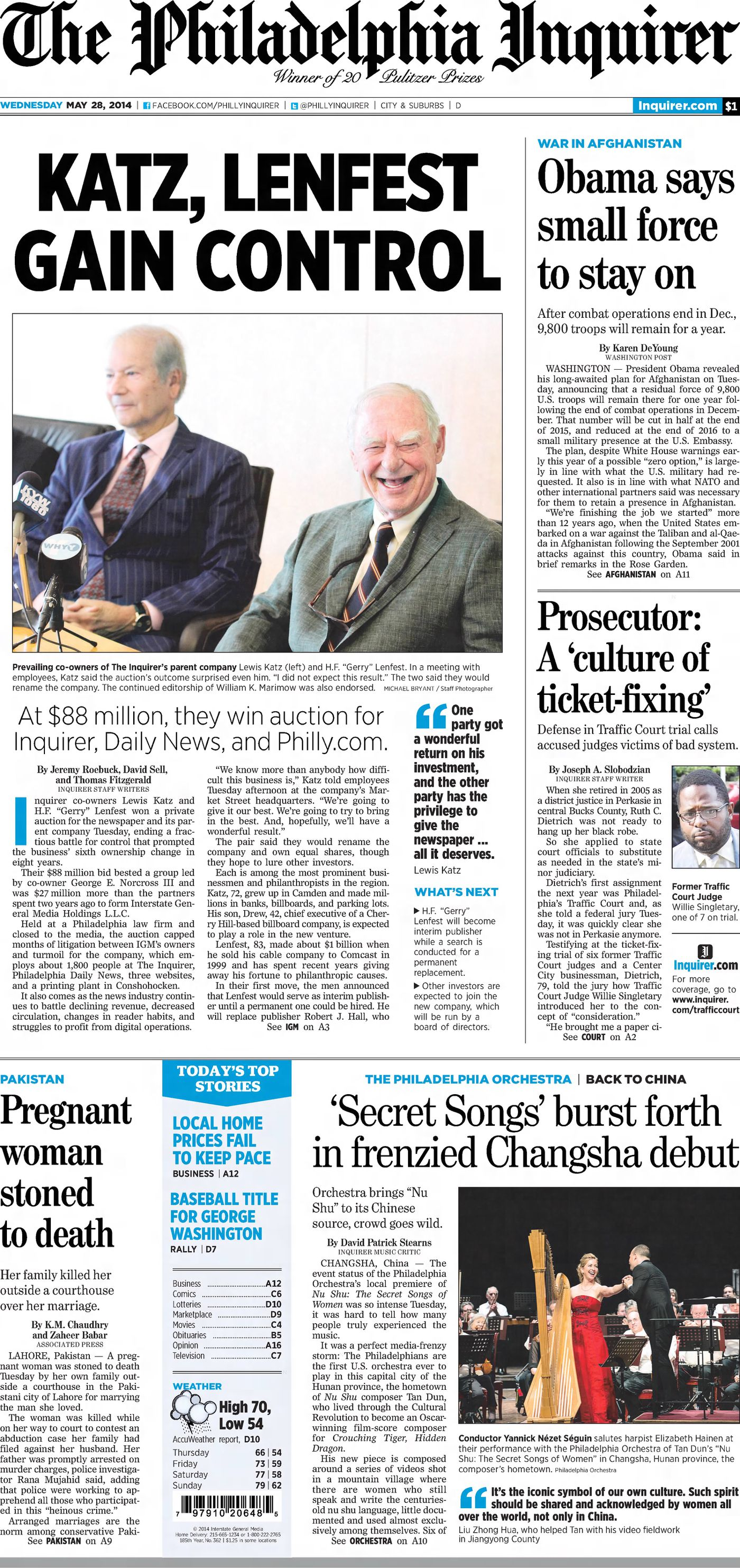 190 years of history in The Philadelphia Inquirer's front pages
