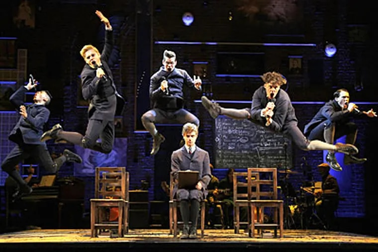 """A scene from the traveling production of """"Spring Awakening."""""""