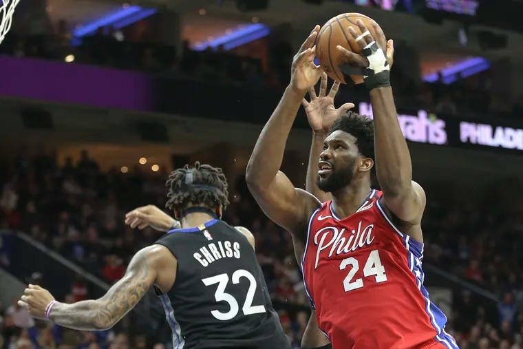 Joel Embiid showed up to Sixers camp in shape and ready to lead the team in pursuit of an NBA championship.