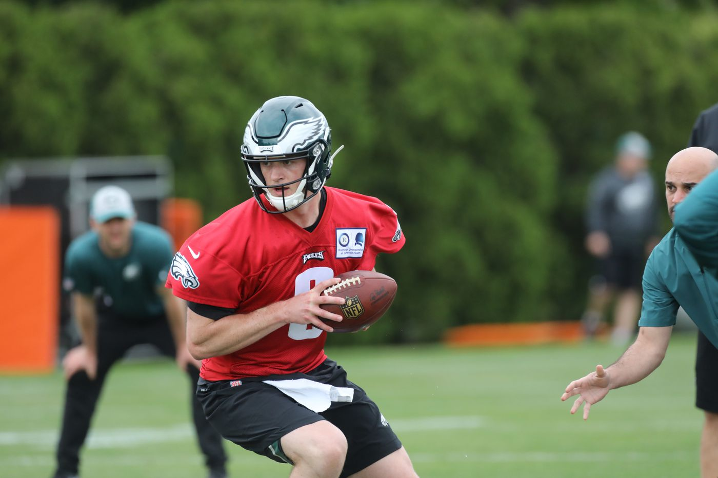161f66286de From record-setter to reserve, Clayton Thorson is first quarterback draft  pick for Eagles to develop since Carson Wentz