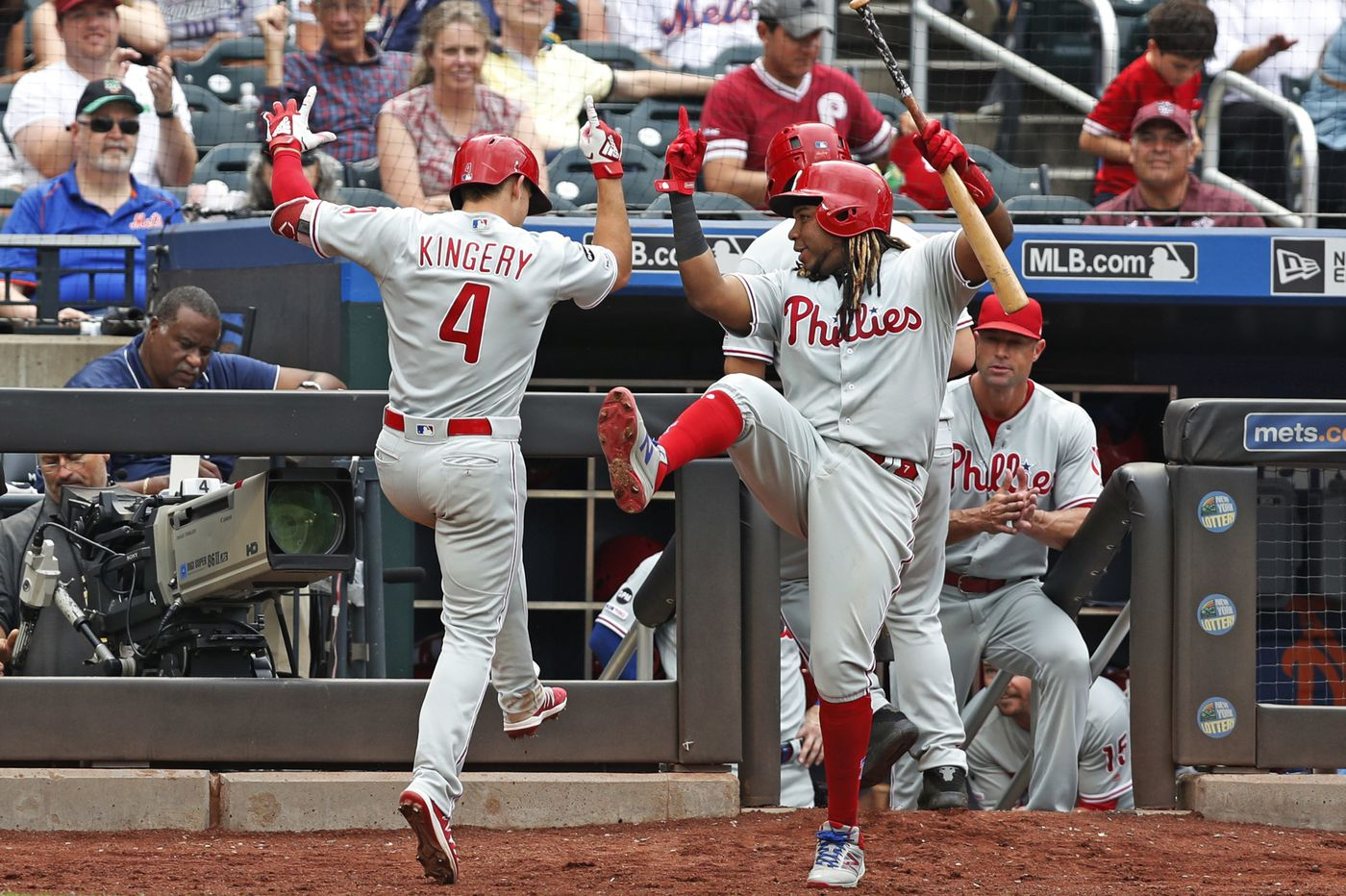 Phillies beat Mets, 10-7, move two games out of wild-card spot