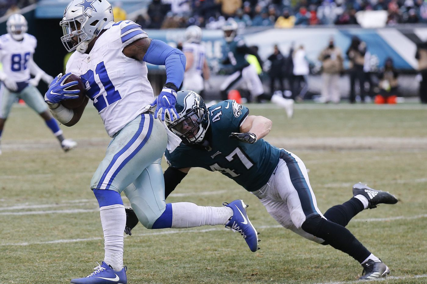 With Nigel Bradham out, Jim Schwartz must mix and match Eagles linebackers