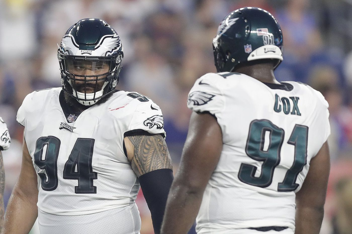 e738aeddfe5 Eagles thin at defensive tackle; Tim Jernigan watches practice from sideline