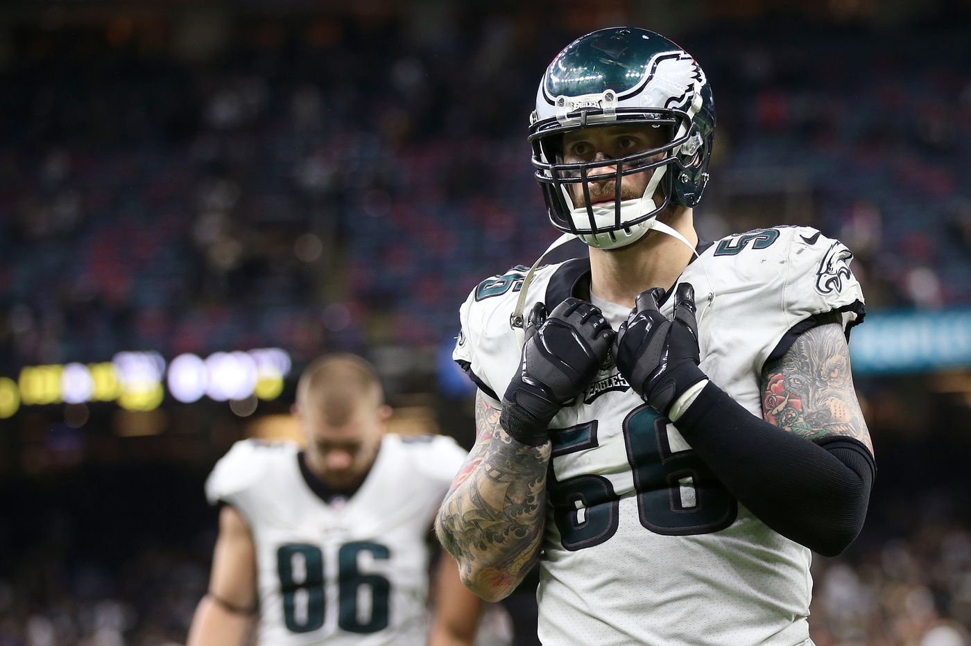 Eagles restructure Chris Long's contract, but he says he's made no decision about his future