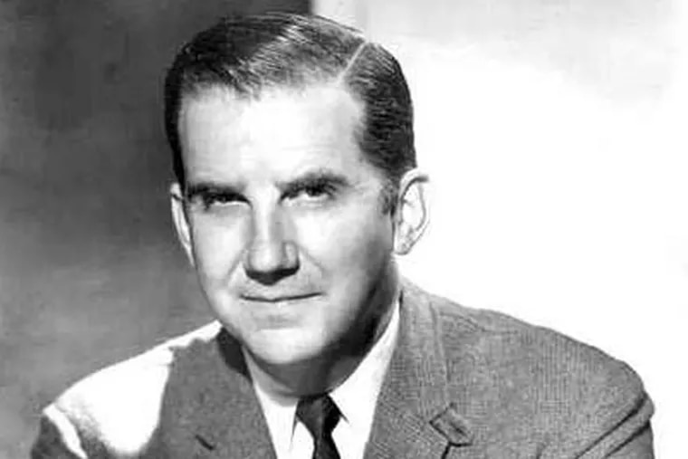Ed McMahon, shown here in his younger days in Philadelphia.  The former Tonight Show announcer has died.