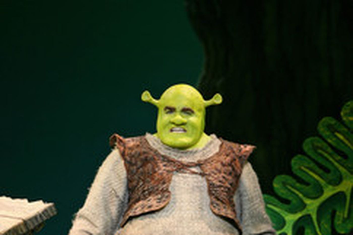 A big green ogre goes to Broadway