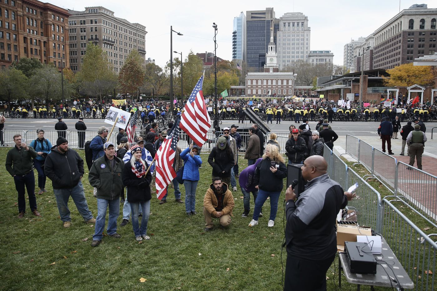 4 arrested, but calm mostly prevails at 'We the People' rally on Independence Mall