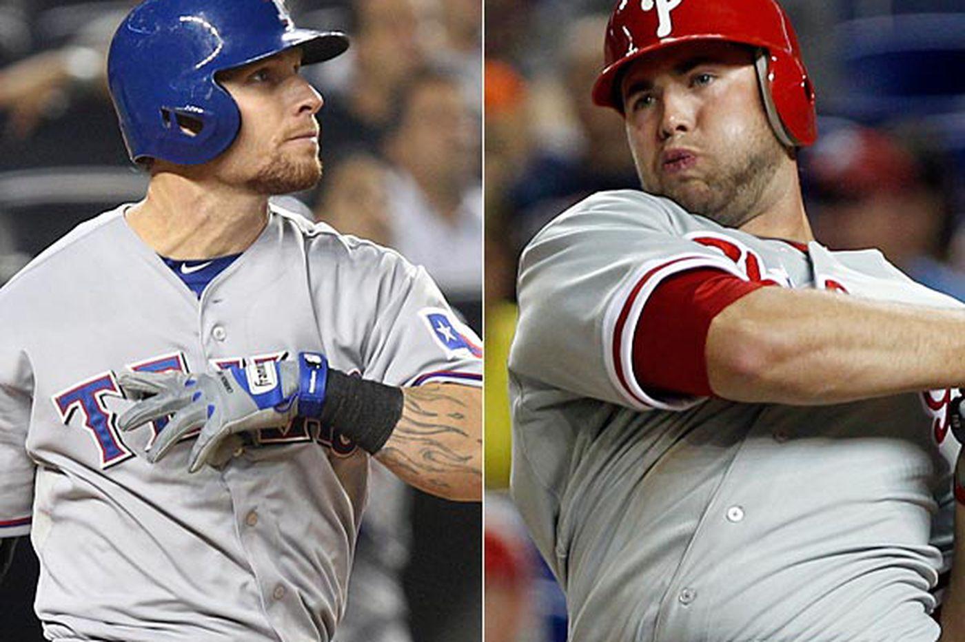 Inside the Phillies: Phillies outfield could pair Josh Hamilton, Darin Ruf