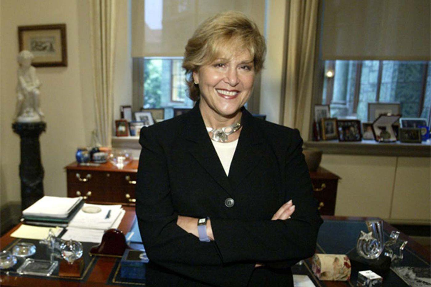 Former Penn president Judith Rodin stepping down at Rockefeller Foundation