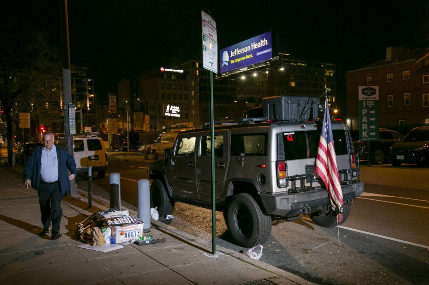 Lawyer says man in Hummer with QAnon stickers outside Philly vote count never threatened or intended violence