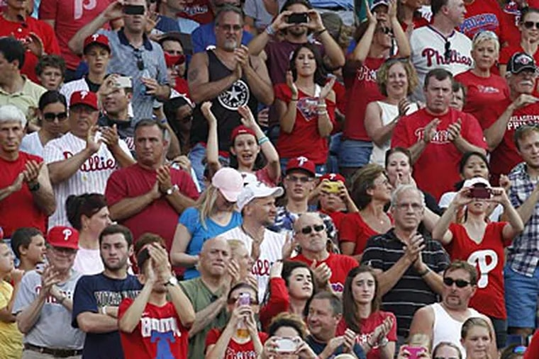 The Phillies' home sellout streak ended at 257 games. (Ron Cortes/Staff Photographer)