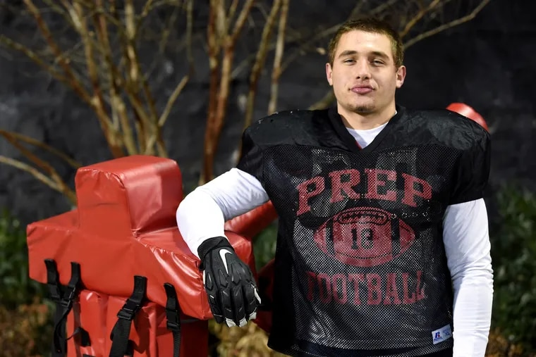 St. Joseph's Prep defensive lineman Blake Romano played one of the best games of his career in the state semifinals vs. Central Catholic of Pittsburgh.