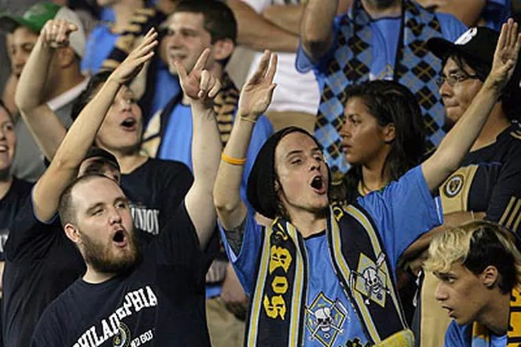 The Union's supporters club has drawn criticism for some of its chants during games. (Yong Kim/Staff file photo)