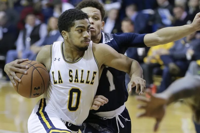 La Salle's Pookie Powell, shown here in November, led La Salle to victory after returning from an ankle injury.