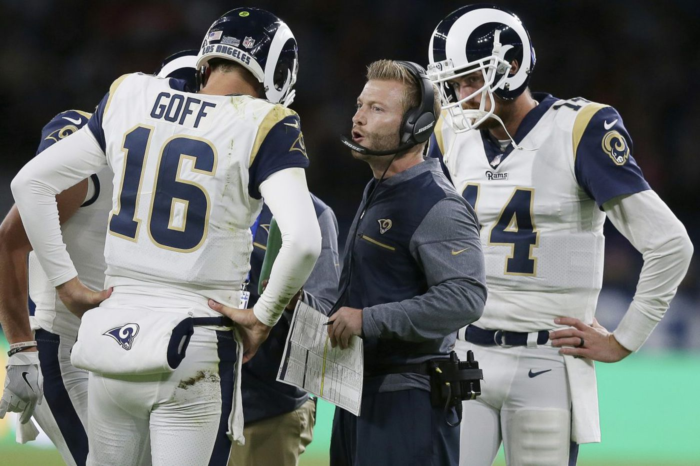 Rams' Jared Goff will get a little extra help against the Eagles