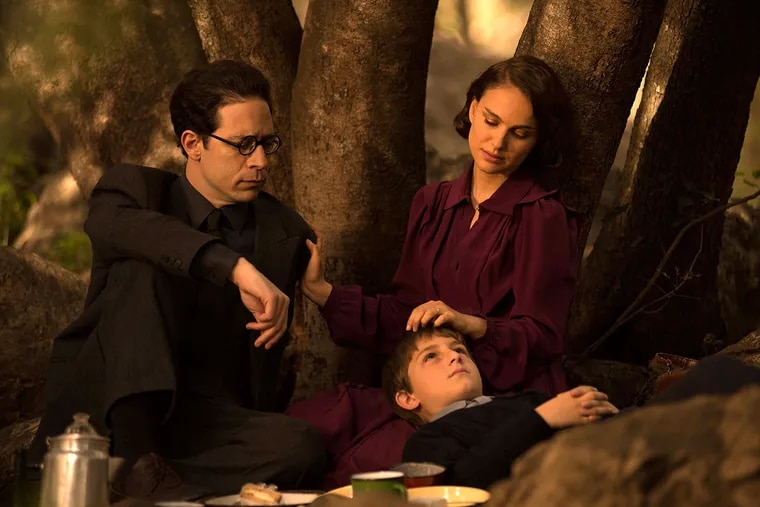 """Natalie Portman directs and stars in her adaptation of Amos Oz's """"A Tale of Love and Darkness,"""" with Gilad Kahana (left) and Amir Tessler."""