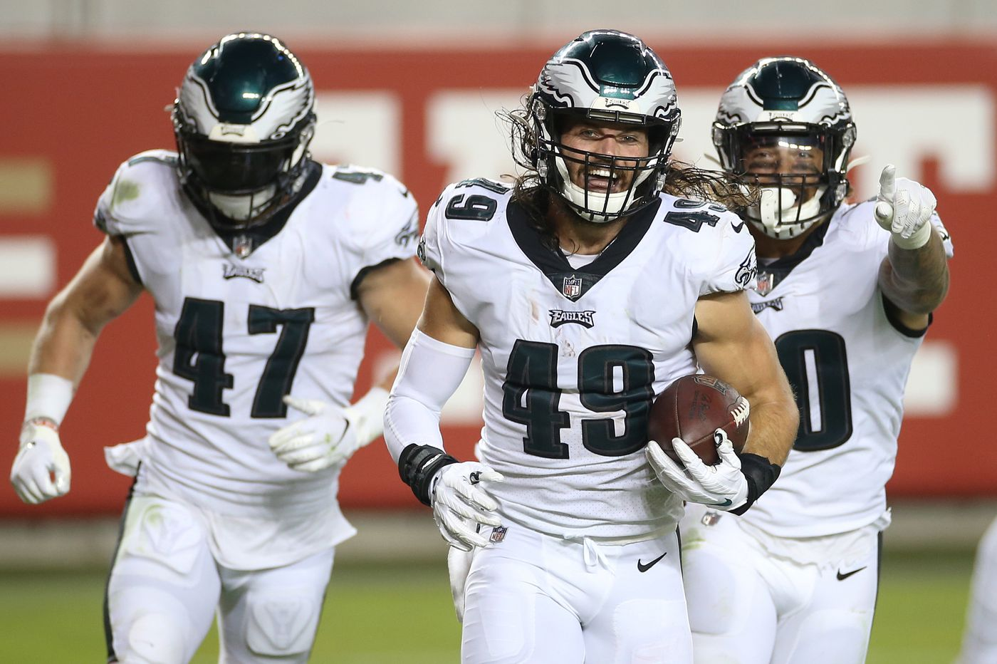 Alex Singleton has been the Eagles' most productive tackler, which is good news for his charitable efforts