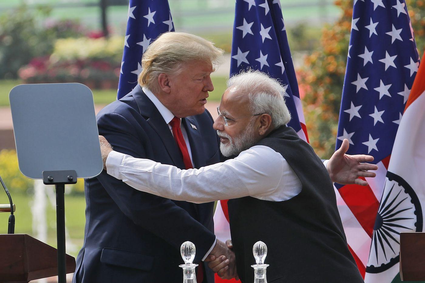 Trump defends Modi, talks domestic squabbles and trade on India trip