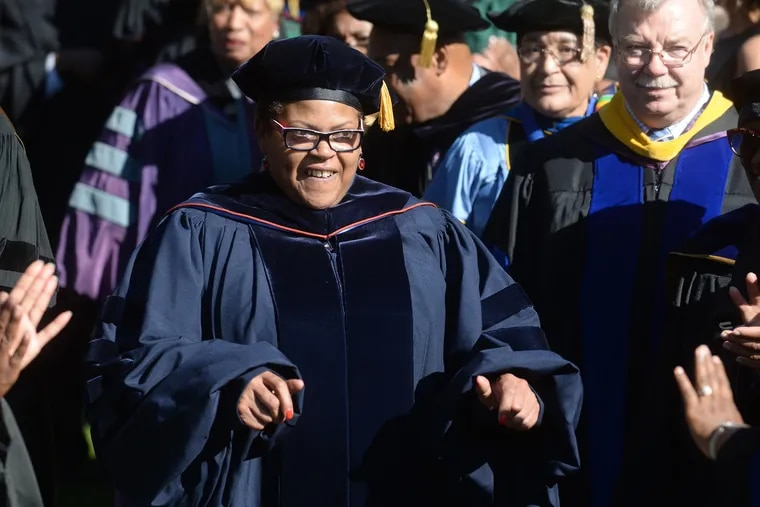 Lincoln University first inducted Dr. Brenda Allen as its 14th president in a ceremony in October 2017.