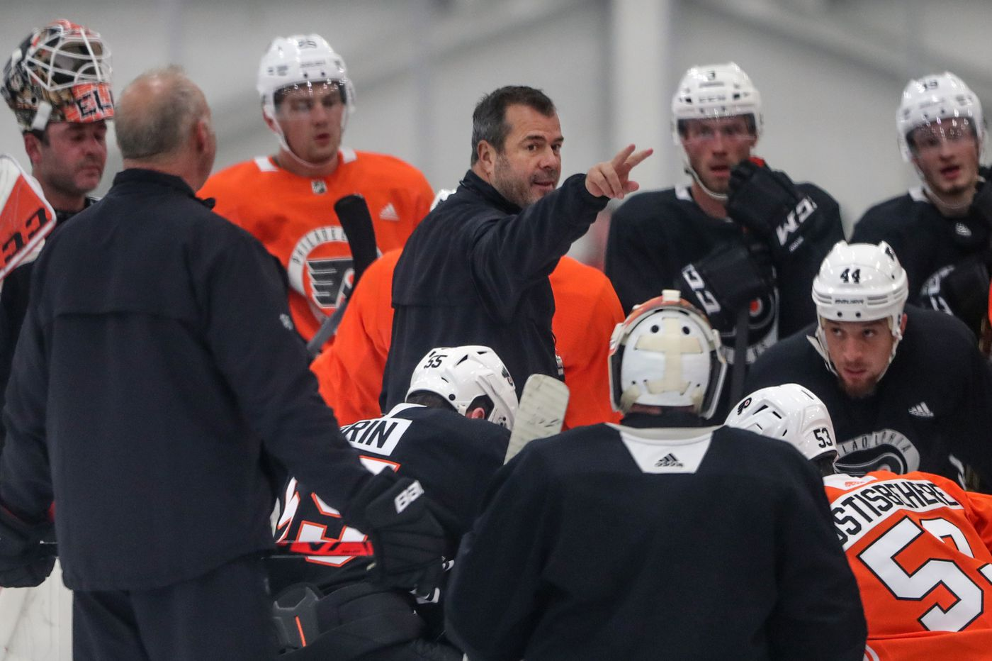 Flyers veterans need more work, so coach Alain Vigneault and staff make massive roster cuts