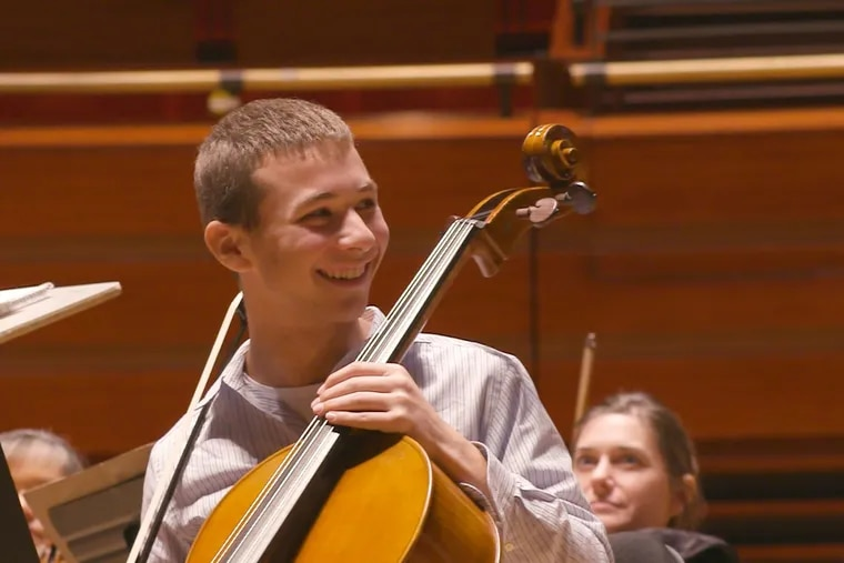 Kyle Levy, 16, receives a brand-new cello, created just for him, from Make-A-Wish during a rehearsal of The Philadelphia Orchestra — and is then surprised with an invitation to perform with the orchestra on stage.