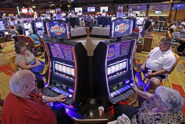 Casino patrons play  slot machines at the Lady Luck Casino Nemacolin, about 70 miles south of Pittsburgh. Philadelphia City Council voted Thursday not to allow video gambling terminals in truck stops, or a satellite casino within the city of Philadelphia.