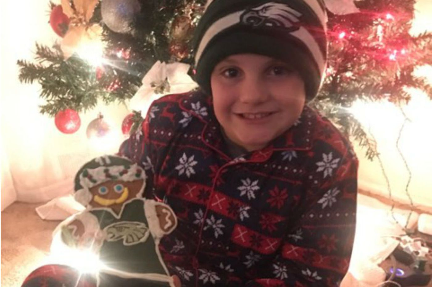Gingerbread Wentz: 9-year-old Bucks boy deals with his hero's injury
