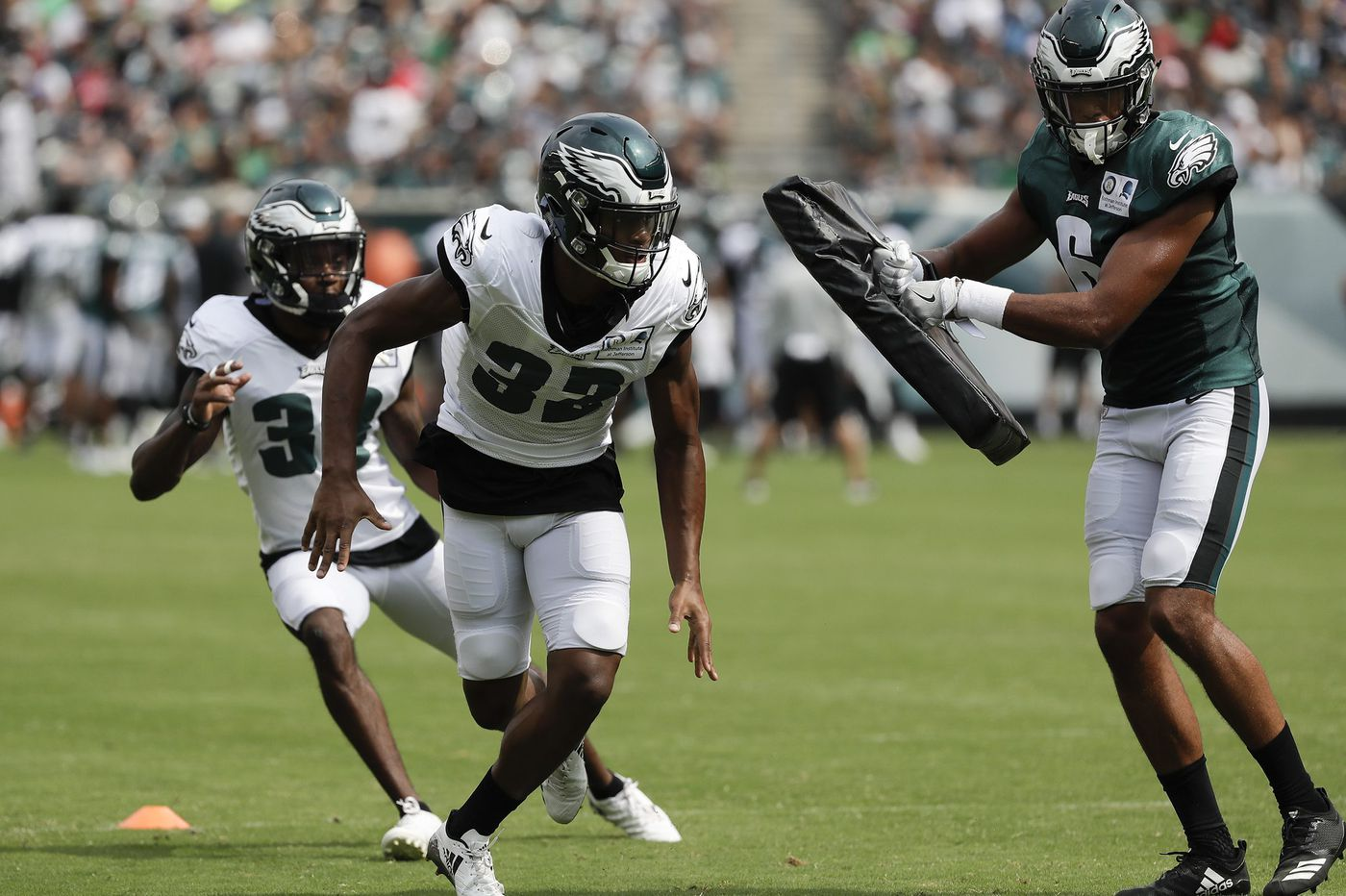 Back from the shadows, Eagles' Rasul Douglas gets call as emergency safety | Bob Ford