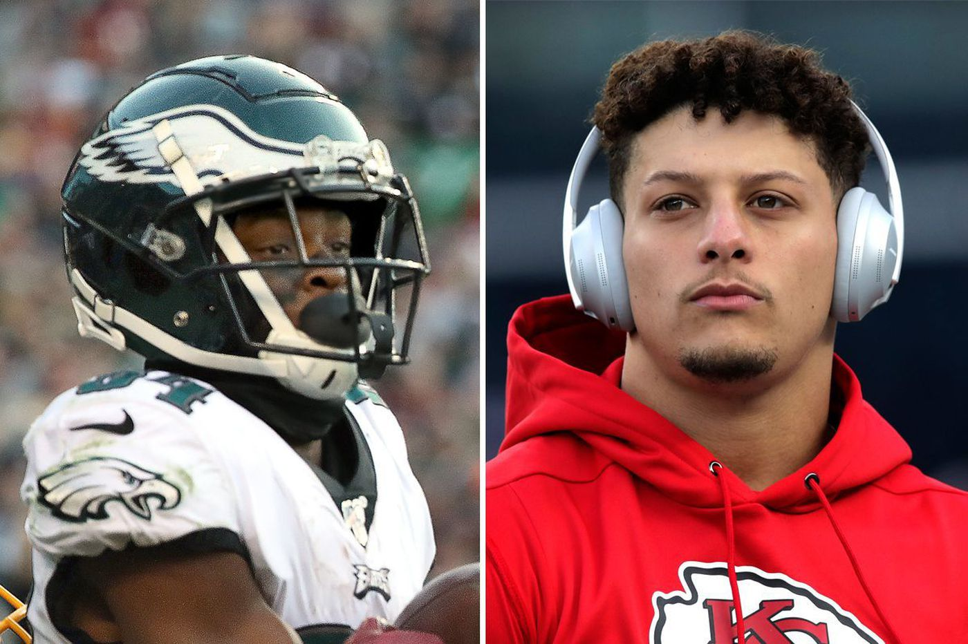 Chiefs' Patrick Mahomes praises Eagles receiver Greg Ward on Twitter. The two have some history.