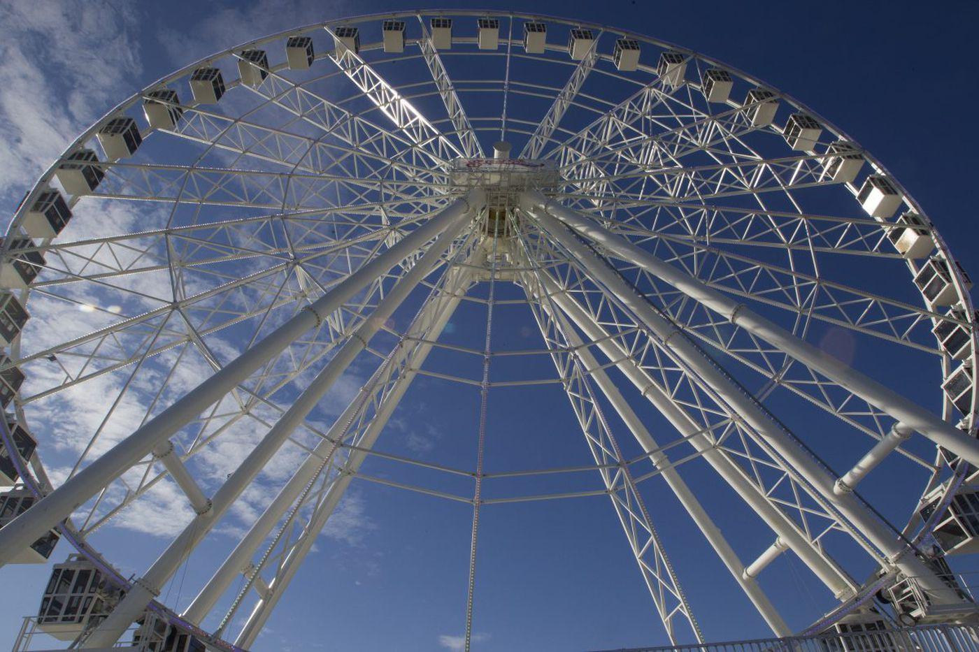 Giant wheel finally opens on Atlantic City Boardwalk