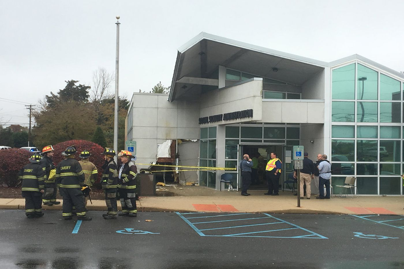20 hurt after car drives into South Jersey Social Security building
